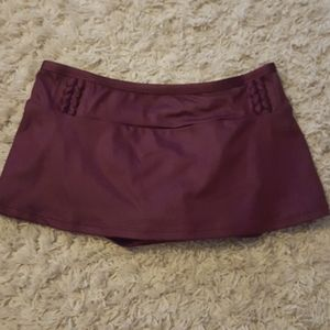 Gibson Latimer Swim Skirt Bottom Wine